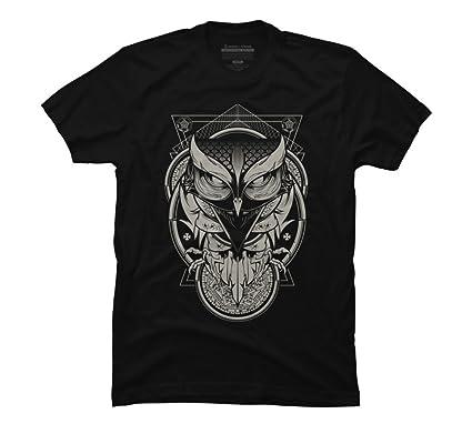 d446619fb40d Amazon.com: Design By Humans Alchemy Owl Men's Graphic T Shirt: Clothing