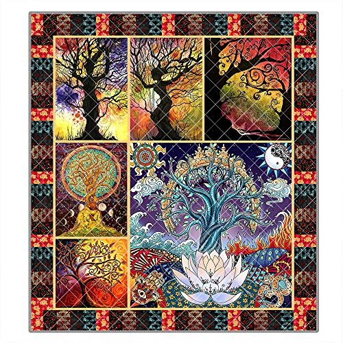 Best Buy! Bee Pattern Camping Quilt King Size Quilt Blanket Queen Size Quilts Throw Blanket Outdoor ...