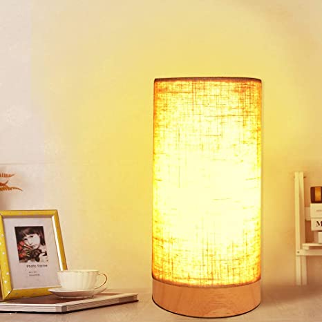 Lámpara de mesa de noche, lámpara de mesa de madera, lámpara ...
