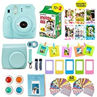 Fujifilm Instax Mini 9 ICE BLUE Camera + 20 Instant Film...