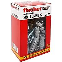 Fischer 542451tacos con tornillo Izquierda, Gris, 10x 50mm