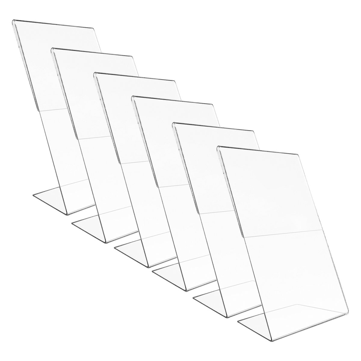"""Victory Light (6 pack Vertical 8x10"""" Acrylic Document Menu Holder Photo Frames Sign Holder Sign Display Home Office"""