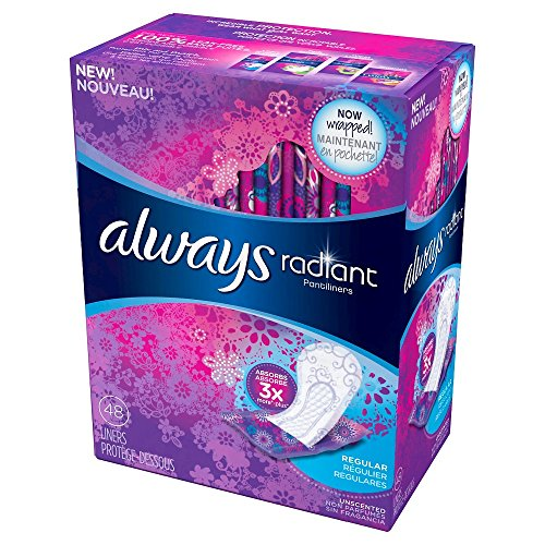 Always Always Radiant Liners, 48 Count