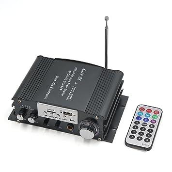 sourcingmap 2A 12V- 18V USB SD Mp3 Amplificador de Audio HiFi con Mando Radio FM: Amazon.es: Coche y moto
