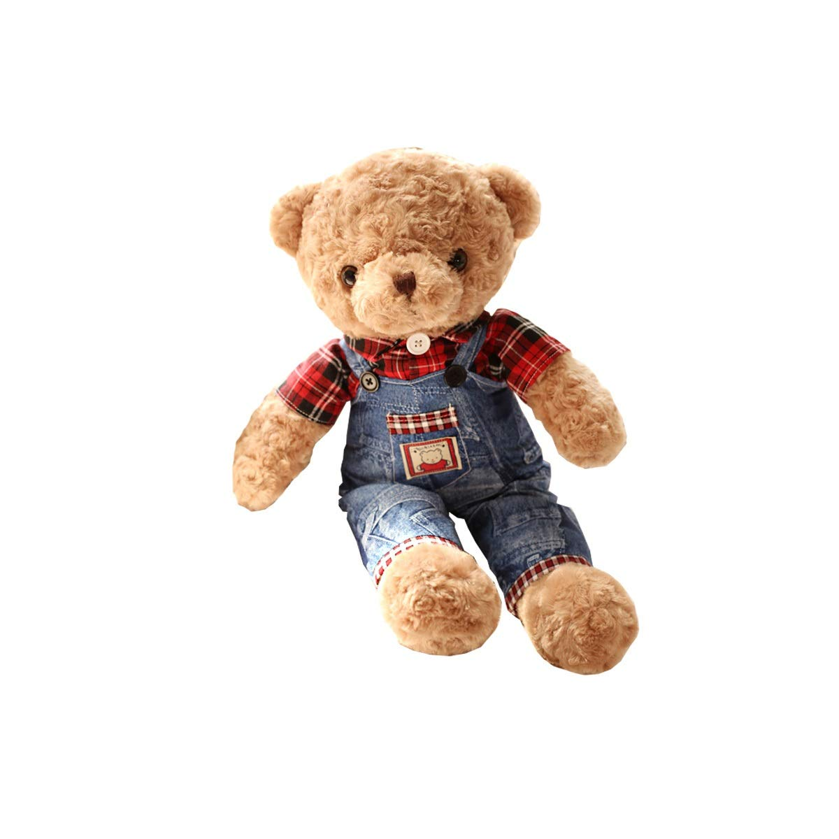 Female 19 inches Female 19 inches Shengshihuizhong Plush Toys, Teddy Bear Plush Toys, Cute Sleeping Pillows, Jeans Bears, Girls, Dolls, Send Girlfriends Latest Couple Gifts Latest Models