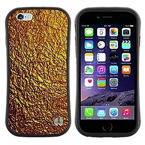 """Hypernova Slim Fit Dual Barniz Protector Caso Case Funda Para Apple (4.7 inches!!!) iPhone 6 / 6S (4.7 INCH) [Patrón Oro Textura brillante del metal amarillo""""]"""