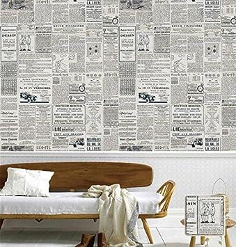 Hzf L Anglais Americain Un Vieux Journal Papier Peint Retro
