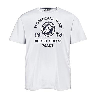 Redfield weißes T-Shirt cool bedruckt Übergröße, XL Größe:7XL