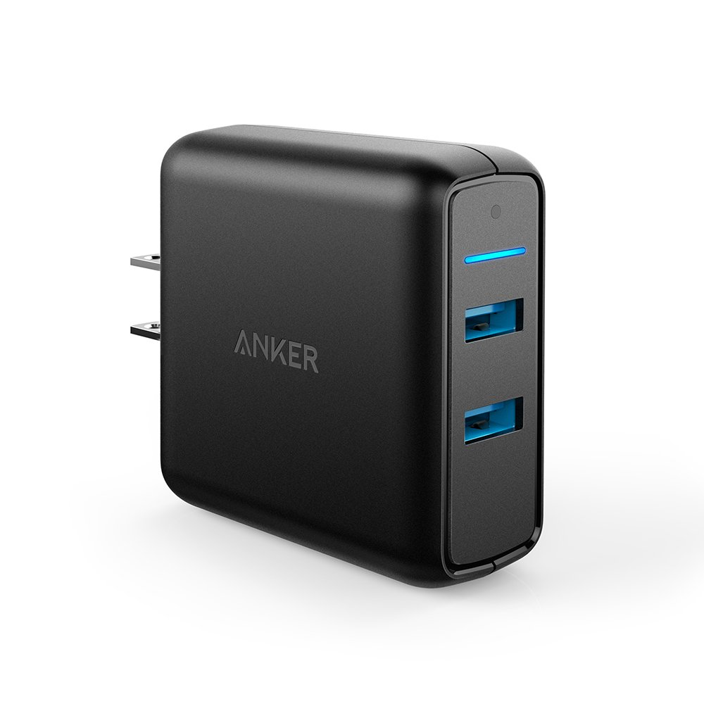 Anker Quick Charge 3.0 39W Dual USB Wall Charger, PowerPort Speed 2 for Galaxy S10/S9/S8/Edge/Plus, Note 8/7 and PowerIQ for iPhone Xs/XS Max/XR/X/8/Plus, iPad Pro/Air 2/Mini, LG, Nexus, HTC and More by Anker