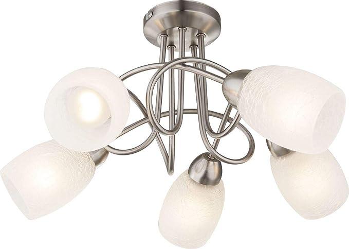 GLOBO techo ESPIRAL Timón lámpara de techo de cromo | 40 W ...