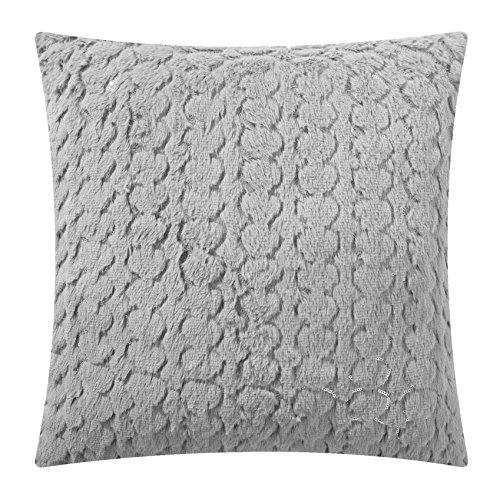 Sequin Scalloped (OKSLO Mainstays Grey Sequin Scalloped Throw Pillow, Gray)