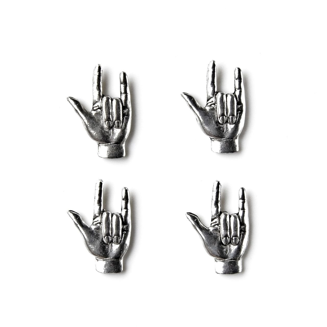 Sign Language I Love You Tuxedo Studs Quality Handcrafts Guaranteed STUDS39