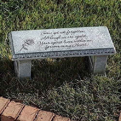 Diva At Home Stone Memorial Bench Garden 6.25