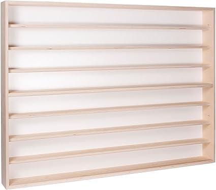 Con Guide in legno di betulla non trattato 2 ripiani 2 ante plexiglass scorrevoli 80 x 20 x 8,5 cm Collezionismo Alsino V80.2a Vetrina espositiva Modellismo Scala N e H0