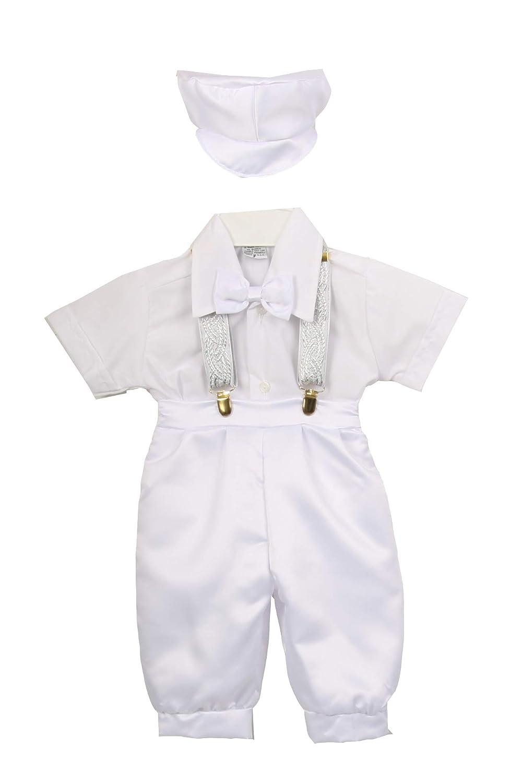 Baby Toddler Boys White Vintage Knickers Suspender Set Outfit Christening Baptism Dedication