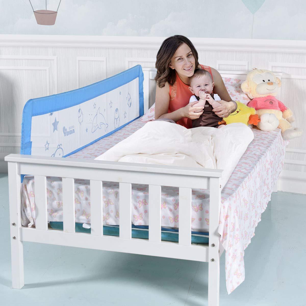 65acd1782c54e2 Barrière de Lit Portable pour Enfant Bébé Barrière Anti-Chute Lit Enfant  Bébé 180x54cm