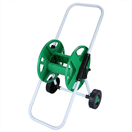 Skylin Water Hose Cart Garden Portable Heavy Duty Metal Hose Reel with 2 Wheels[US  sc 1 st  Amazon.com & Amazon.com : Skylin Water Hose Cart Garden Portable Heavy Duty Metal ...