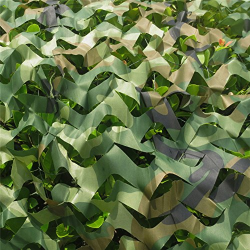 2 X 3m Woodland Filets de Camouflage Militaire Tactique Pour Camping Chasse Tournage Vert 5