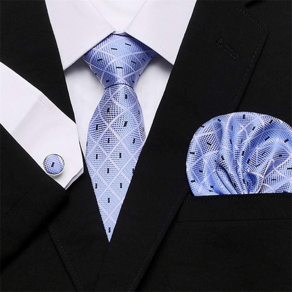 Corbata Para Hombre Skinny Blue Palid 100% Seda Classic Jacquard ...
