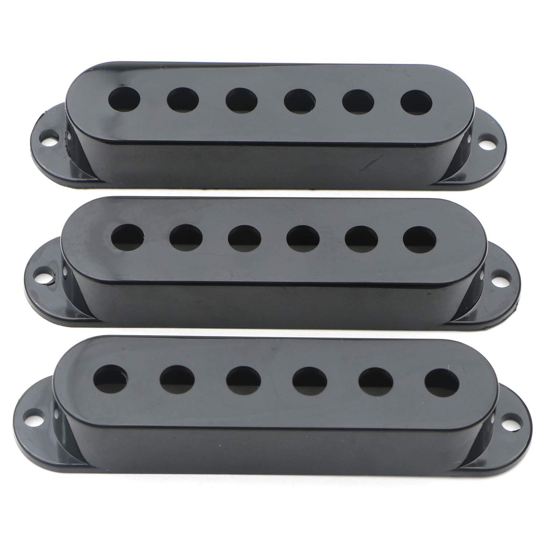 48-50-52mm Swhmc Guitar Switch Tip 3 Pickup Cover 2 Tone 1 Volume Knobs Set Black for Strat