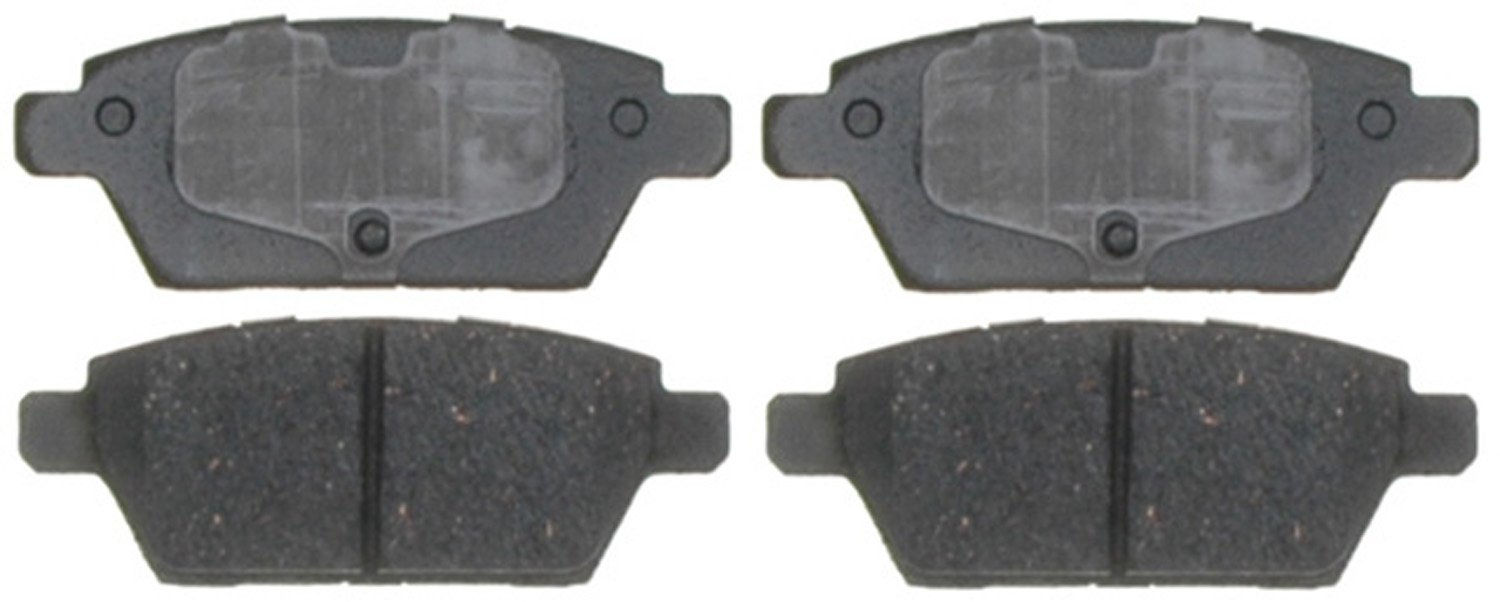 ACDelco 14D1161CH Advantage Ceramic Rear Disc Brake Pad Set with Hardware