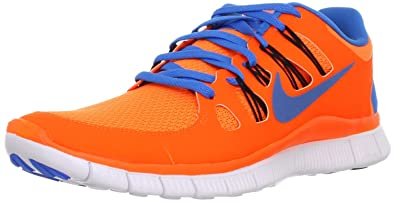 buy popular ac03d 63fec Nike Men s Free 5.0+ Breathe Running Total Orange   Blue Hero   Black  Synthetic Shoe