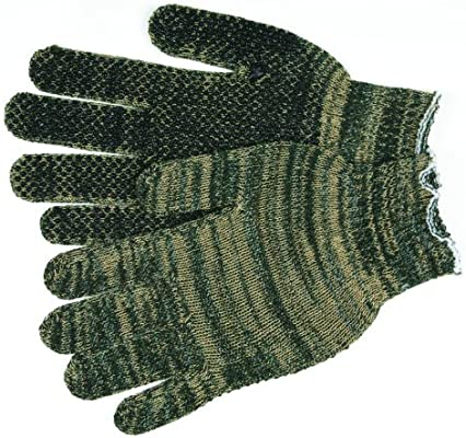 1-Pair MCR Safety 9653LM Cotton//Polyester 7 Gauge String Knitted Multi-Purpose Gloves with White Hemmed Cuff Large, Multicolor