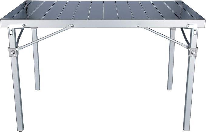 BRUNNER Campingtisch Titanium quadra Mesa de Camping de Titanio, Aluminio, Gris
