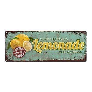 Lemonade Metal Sign, Kitchen Décor, Vintage, Retro, Rustic, Summer