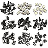 WINGONEER 140pcs 10 Types Momentary Tactile Push Button Switch Micro SMD SMT Tact Switches