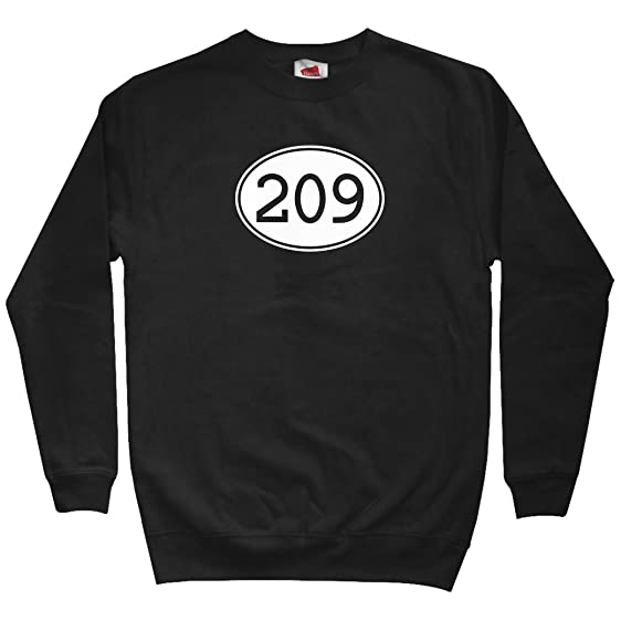 Amazoncom Smash Vintage Mens Area Code Stockton Sweatshirt - Where is area code 209