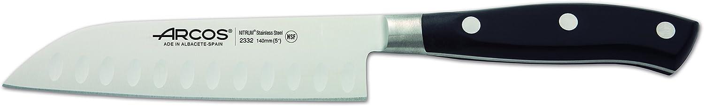 Colore Nero Acciaio Inossidabile Forgiato Nitrum 140 mm Arcos Serie Riviera Coltello Santoku Coltello Giapponese Manico Polioxymetilene Pom