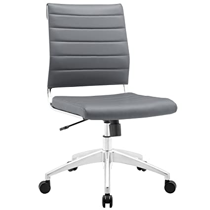 amazon com modway jive mid back office chair gray kitchen dining