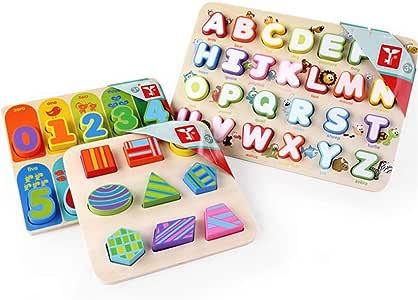 Yhjklm - Juego de Mesa para niños, diseño de Letras del Alfabeto: Amazon.es: Hogar