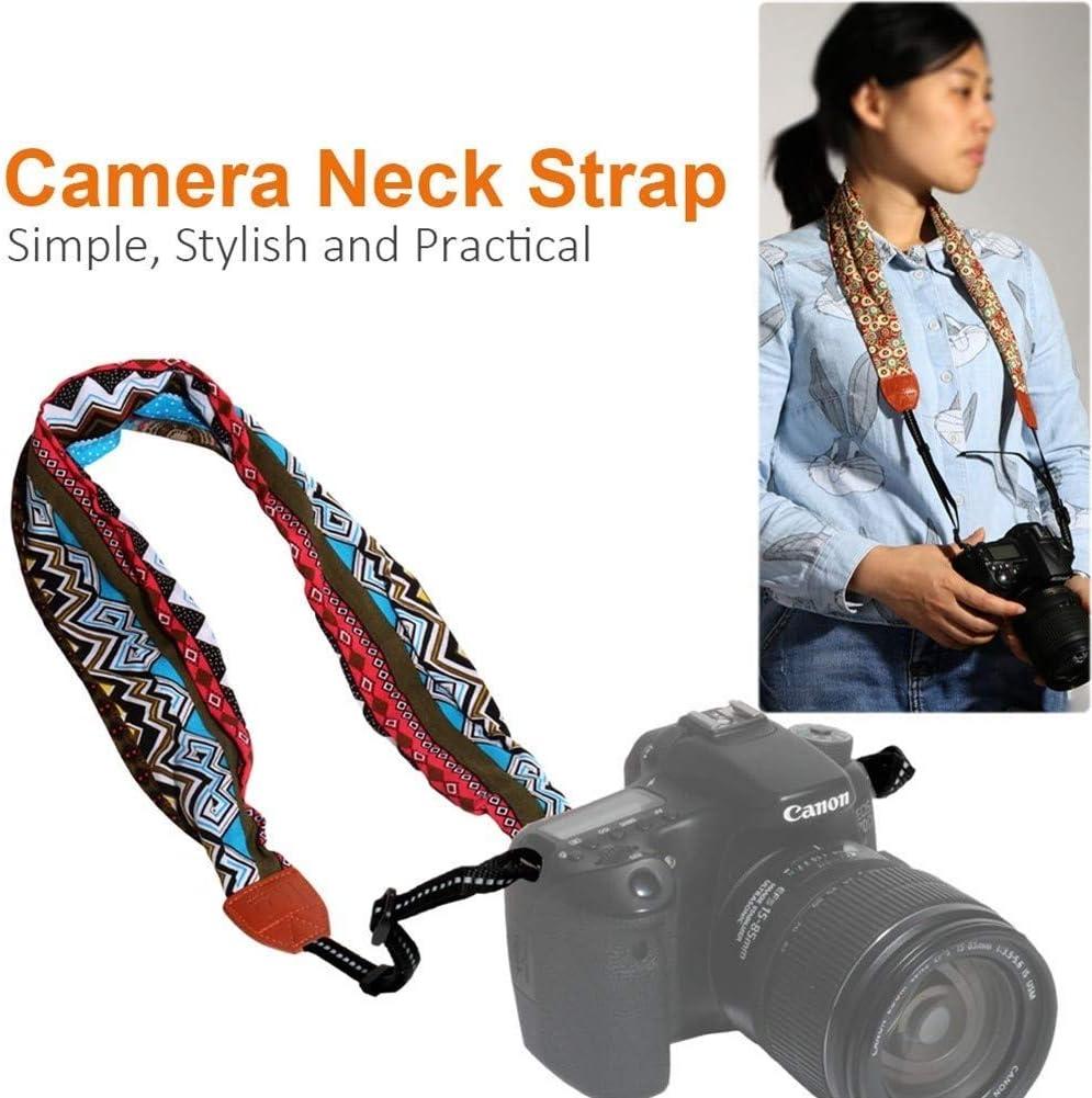 Camera Belt Accessory Universal Adjustable DSLR Camera Shoulder Neck Strap Fabric of Floral Scarf for Digital Camera Durable Color : Color 4
