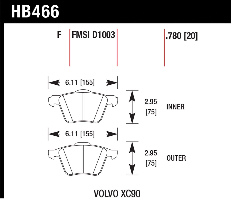 Hawk Performance HB490Y.665 LTS Brake Pad