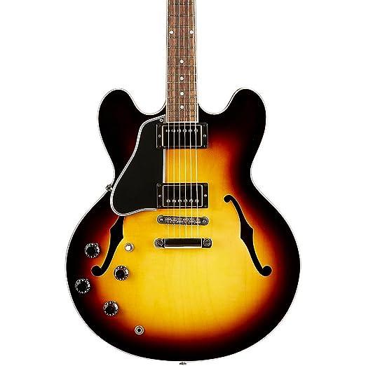 Gibson Memphis ES-335 esdplvsnh1 zurdos semi-hollow-body - Guitarra eléctrica, color vintage sunburst: Amazon.es: Instrumentos musicales