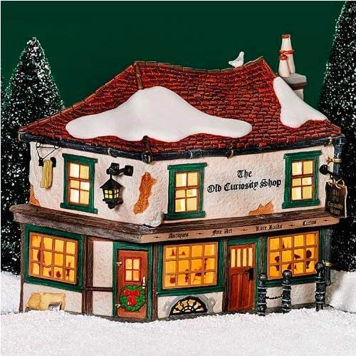 Department 56 Dickens Village Old Curiosity Shop Red Roof #56.58482 Lighted Porcelain Collectible Building