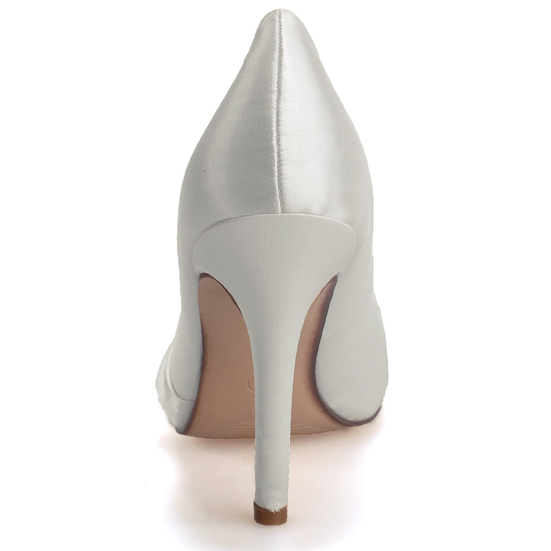 Elobaby Frauen Hochzeit Schuhe WR584 Standard Standard Standard Satin High Heels Party (35-43 Größe) (12,5 Ferse) 37e6c6