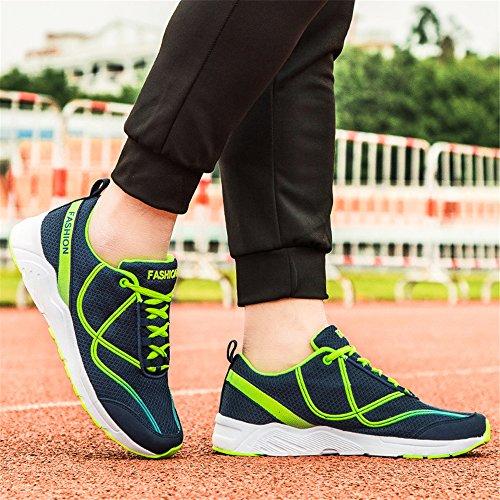 FZDX Men's Running Shoes for Mens Slip Resistant Sports Sneaker Black Blue Blue Ks5566 yTlWvDo