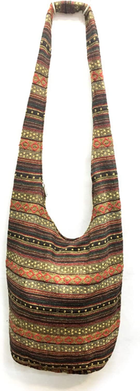 Womens Girl Thai Cotton Hippie Hobo Sling Crossbody Bag Messenger Purse Paisley