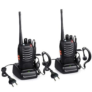 Walkie Talkie Recargables 16 Canales Proster Walkies Profecionales CTCSS DCS BF-888S Transmisores Receptores Radiocomunicación Gran Alcance con ...