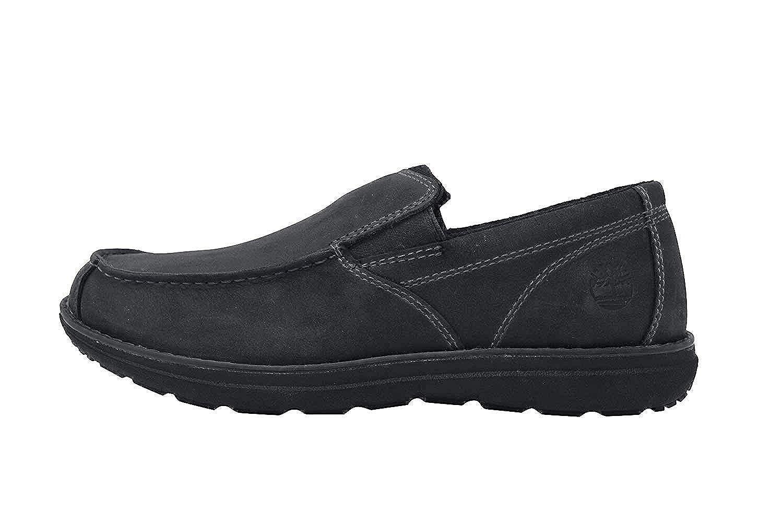 Edgemont Black Leather Slip On Shoes