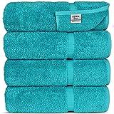 Chakir Turkish Linens Turkish Cotton Luxury Bath Towel Set of 4, Aqua Deal