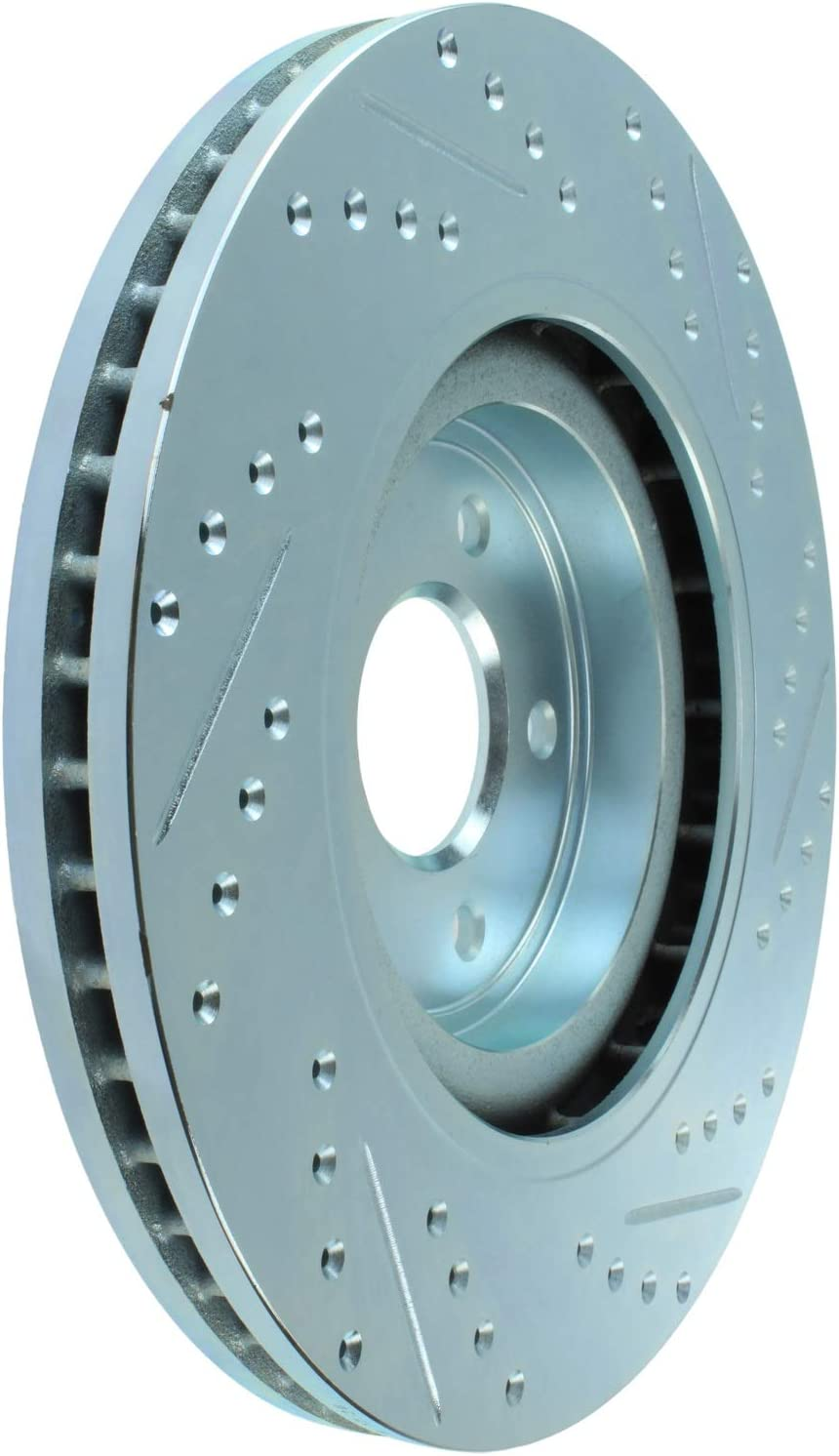 Disc Brake Rotor-Select Sport Drilled//Slotted Rotor Front Right Stoptech