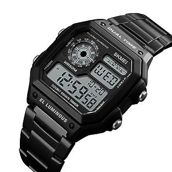 Huang Dog-shop Hombre Deportivos Relojes LED De Analógico Relojes De Pulsera, Resistente Al