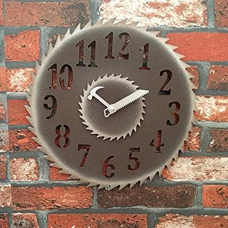 ZHAOYT Creativa salón estilo americano retro reloj de pared eólica industrial cafe bar tiendas colgar Relojes de pared Pared ,30cm- digital: Amazon.es: ...