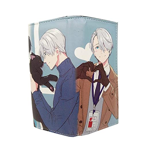 Anime Yuri On Ice Wallet Monedero largo de cuero de PU con ...