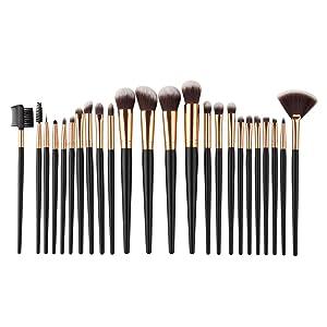 Sunbona 24PCS Cosmetic Makeup Brushes Set Face Powder Eyeshadow Eyeliner Lip