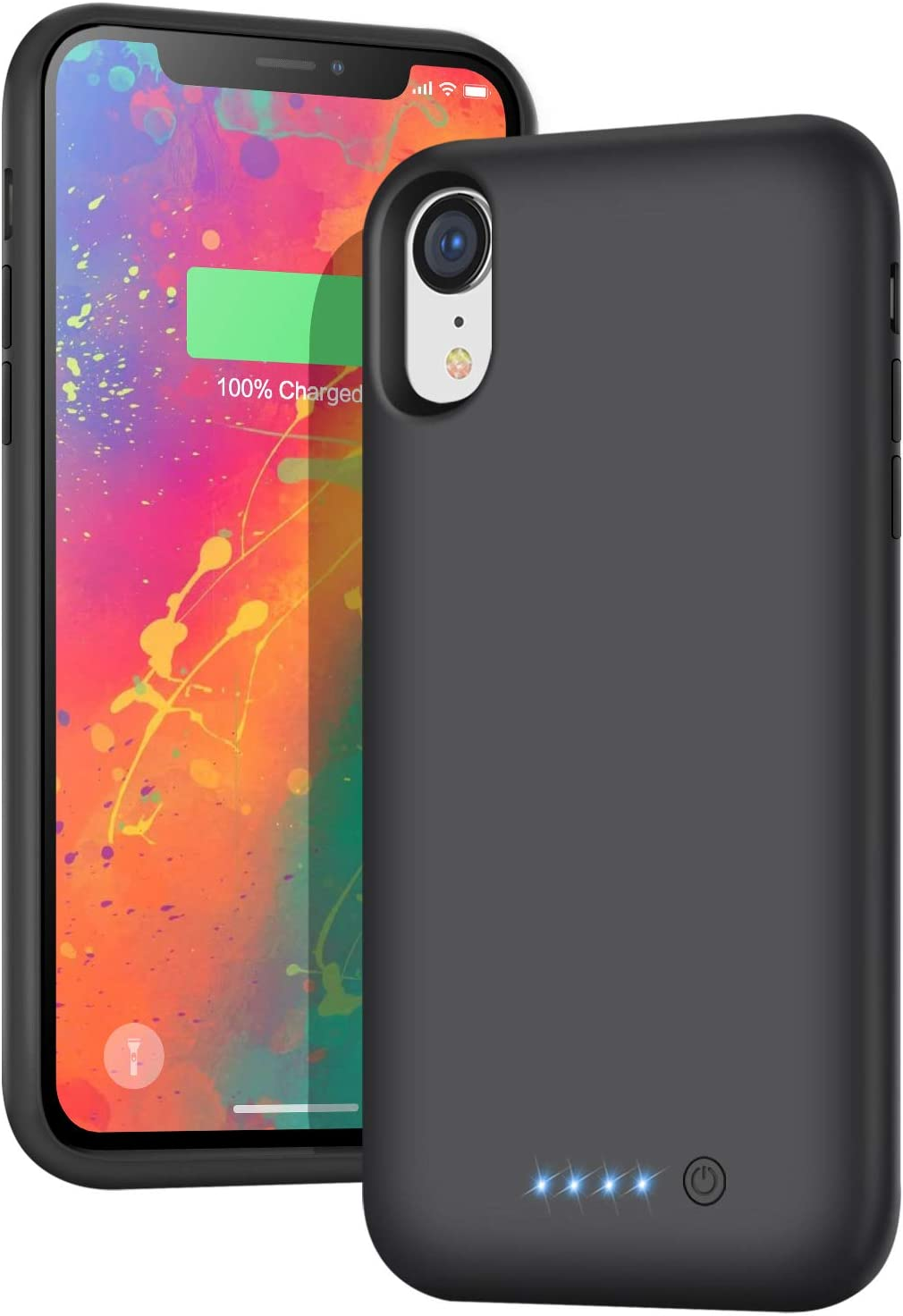 Battery Case for iPhone xr,【6800mah High Capacity】 H H·E·T·P Charging Case Extend 200% Battery Life,Portable Protective Charger Case for Apple iPhone xr (6.1inch) (Black)